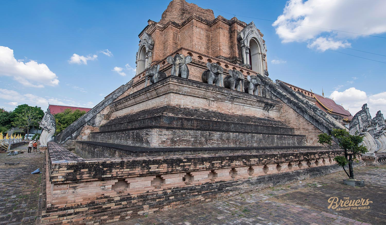 Wat Chedi Luang Tempel in Chaing Mai im Norden Thailands