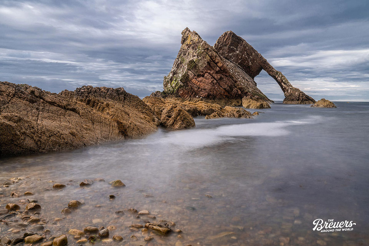 Bow Fiddle Rock bei Portknockie in Schottland