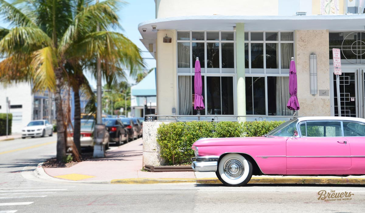 Pink Cadillac in Miami