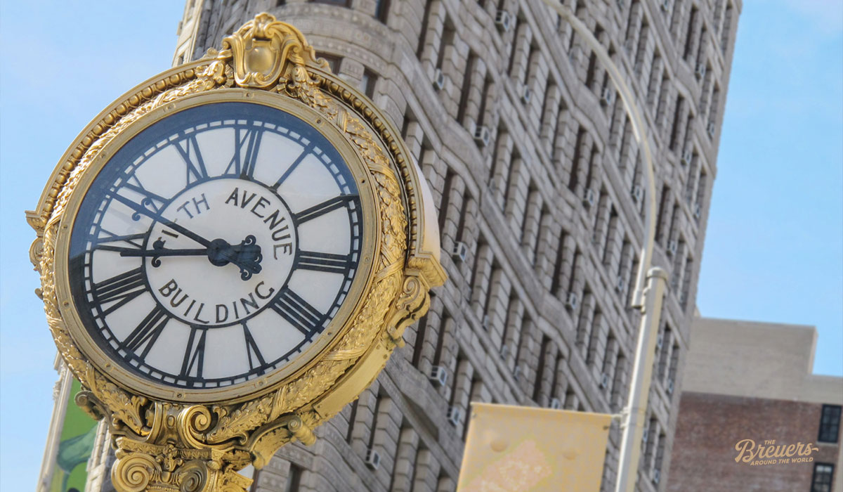 Uhr an der Fifth Avenue in Manhattan