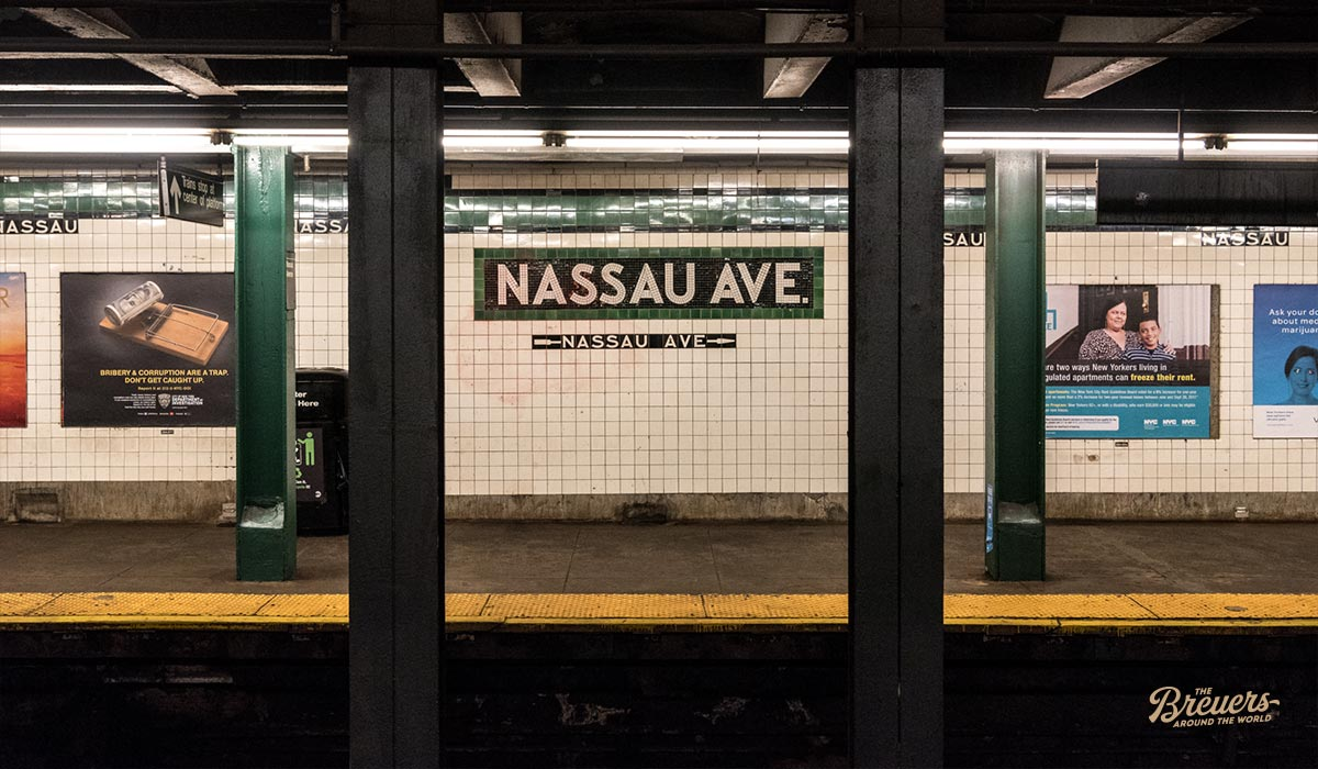 Subway Station Nassau Avenue in New York