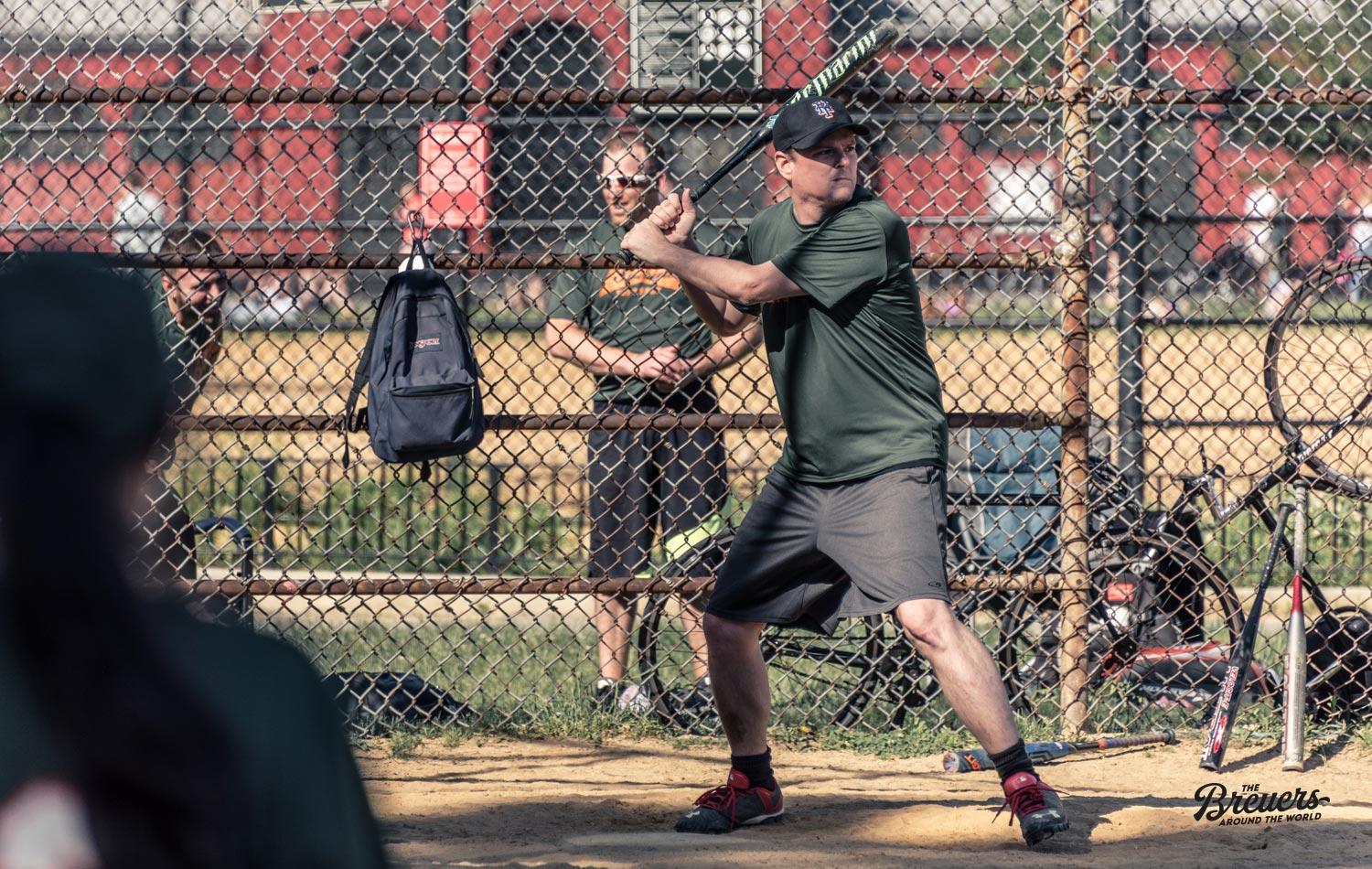Baseball Spieler im Mc Carren Park in Williamsburg
